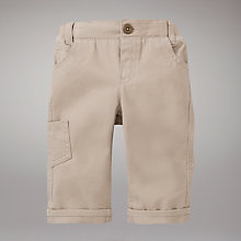 Buy John Lewis Baby Chino Trousers, Pebble Online at johnlewis.com