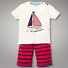 Buy John Lewis Boat T-Shirt and Shorts Set, Multi Online at johnlewis.com