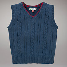 Buy John Lewis V-Neck Tank Top, Blue Online at johnlewis.com