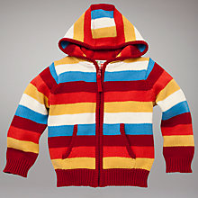 Buy John Lewis Striped Zip Through Hoodie, Multi Online at johnlewis.com