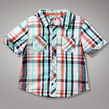 Buy John Lewis Short Sleeved Checked Shirt Online at johnlewis.com