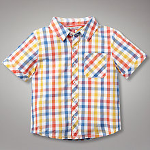 Buy John Lewis Checked Shirt, Yellow/Orange/Blue Online at johnlewis.com