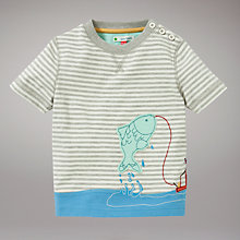 Buy John Lewis Fishing T-Shirt, Stone Online at johnlewis.com