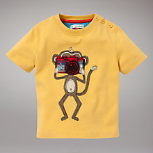 Buy John Lewis Monkey T-Shirt, Yellow Online at johnlewis.com