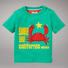 Buy John Lewis Crab T-Shirt, Green Online at johnlewis.com