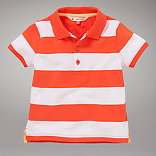 Buy John Lewis Striped Polo Shirt, Orange Online at johnlewis.com