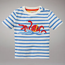 Buy John Lewis Octopus T-Shirt, Blue Online at johnlewis.com