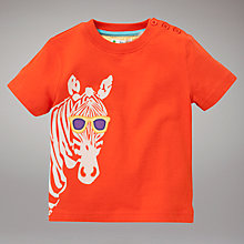Buy John Lewis Zebra T-Shirt, Orange Online at johnlewis.com