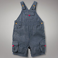 Buy John Lewis Ticking Stripe Dungarees, Navy Online at johnlewis.com