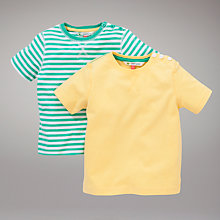 Buy John Lewis Chalky T-Shirts, Pack of 2, Green/Yellow Online at johnlewis.com