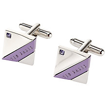 Buy Ted Baker Curvez Square Cufflinks Online at johnlewis.com