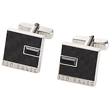 Buy Ted Baker Carfib Carbon Fibre Cufflinks, Black Online at johnlewis.com