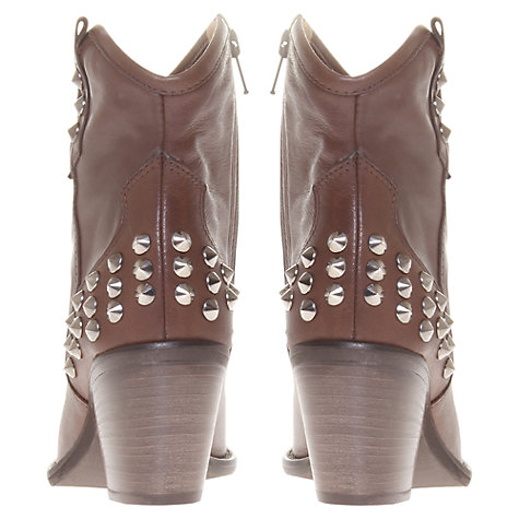 Buy Carvela Showdown Leather Studded Heel Cowboy Boots Online at johnlewis.com