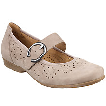 Buy Gabor Misra Nubuck Sandals, Beige Online at johnlewis.com