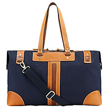 Buy Ted Baker Drleg Canvas Holdall, Navy Online at johnlewis.com