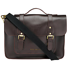 Buy Ted Baker Skolday Leather Satchel Online at johnlewis.com