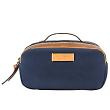Buy Ted Baker Drbeat Canvas Washbag, Blue Online at johnlewis.com