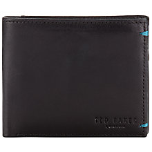 Buy Ted Baker Fldcol Bi-Fold Wallet with Card Holder, Black/Green Online at johnlewis.com