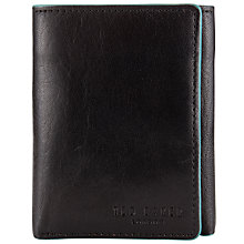 Buy Ted Baker Trenun Leather Tri-Fold Wallet, Black Online at johnlewis.com