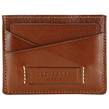 Buy Ted Baker Leather Card Holder, Tan Online at johnlewis.com