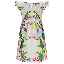 Buy Derhy Kids Botanical Dress, White Online at johnlewis.com
