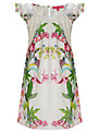 Derhy Kids Botanical Dress, White