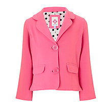 Buy John Lewis Girl Jersey Blazer, Pink Online at johnlewis.com