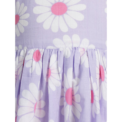 Buy John Lewis Girl Bold Flower Dress, Lavender Online at johnlewis.com