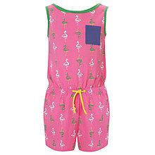 Buy John Lewis Girl Flamingo Playsuit, Pink Online at johnlewis.com