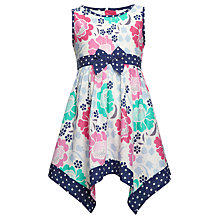 Buy John Lewis Girl Floral Dress with Polka Dot Trim, Multi Online at johnlewis.com