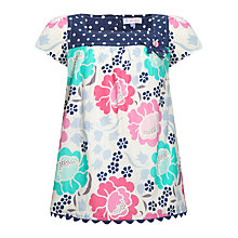 Buy John Lewis Girl Floral and Polka Dot Top, Multi Online at johnlewis.com
