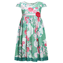 Buy John Lewis Girl Kimono Print Dress, Green Online at johnlewis.com