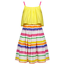 Buy John Lewis Girl Striped Tiered Dress, Multi Online at johnlewis.com