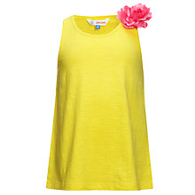 Buy John Lewis Girl Vest Top with Corsage Online at johnlewis.com