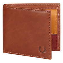 Buy Fred Perry Bifold Coin Wallet, Brown Online at johnlewis.com