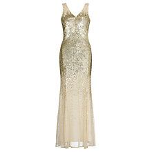 Buy John Lewis Jessica Sequined Maxi Dress, Gold Online at johnlewis.com