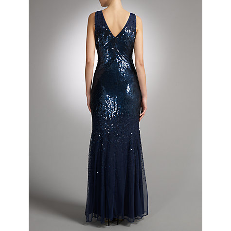 Buy John Lewis Jessica Sequined Maxi Dress, Navy Online at johnlewis.com