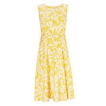 Buy COLLECTION by John Lewis Sabrina Dress, Yellow/White Online at johnlewis.com