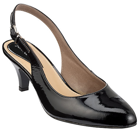 Buy John Lewis Colton Patent Leather Classic Slingback Court Shoes Online at johnlewis.com