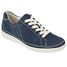 Buy Gabor Amulet Nubuck Lace-Up Trainers, Navy Online at johnlewis.com