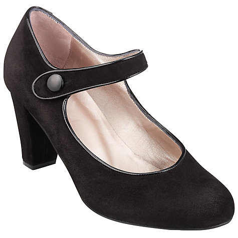 Buy John Lewis Becolet Suede Mary-Jane Court Shoes, Black Online at johnlewis.com