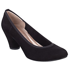 Buy John Lewis Jameo-Sin Suede Cone Heel Court Shoes, Black Online at johnlewis.com