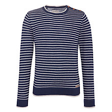 Buy Selected Homme Monthly Nap Split Stripe Jumper Online at johnlewis.com