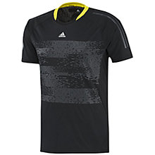 Buy Adidas 365 Cool T-Shirt, Black/Grey Online at johnlewis.com