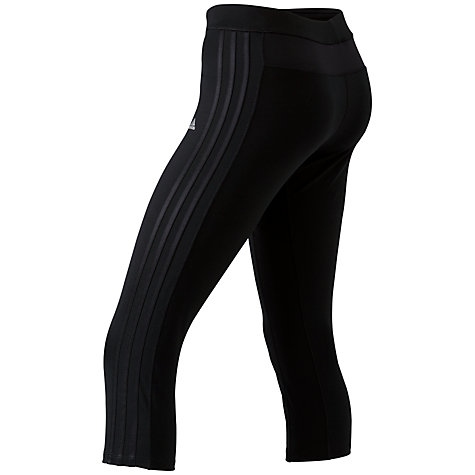 Buy Adidas 3/4 Training Tights, Black/Silver Online at johnlewis.com