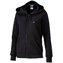 Buy Adidas Essentials Long Sleeve Hooded Top, Black Online at johnlewis.com