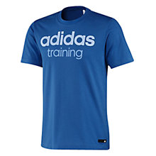 Buy Adidas Training T-Shirt, Blue Online at johnlewis.com