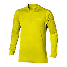 Buy Asics Hermes 1/2 Zip Long Sleeve Top, Yellow Online at johnlewis.com