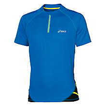 Buy Asics Fuji Short Sleeve 1/2 Zip Top, Blue Online at johnlewis.com