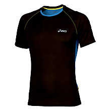 Buy Asics Fuji Light Short Sleeve Top, Black Online at johnlewis.com